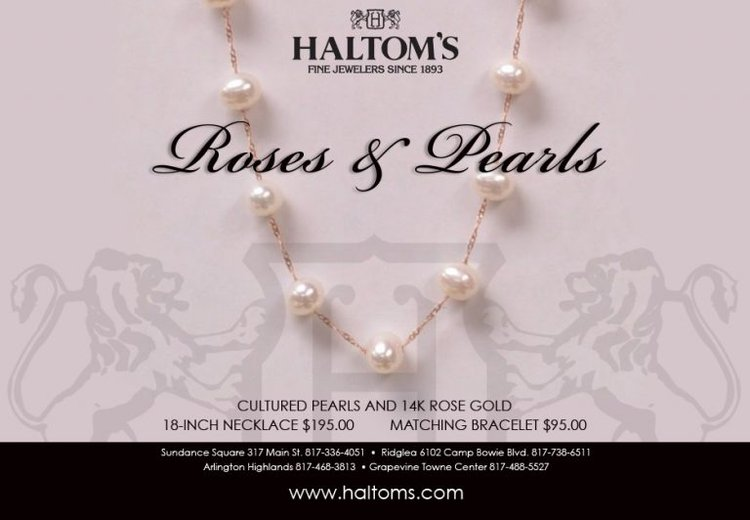 Mother's Day Gift Idea: Roses and Pearls Necklace
