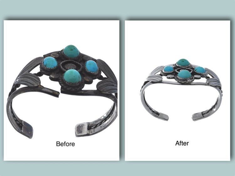 From Old to New:  Turquoise and Silver Cuff Bracelet