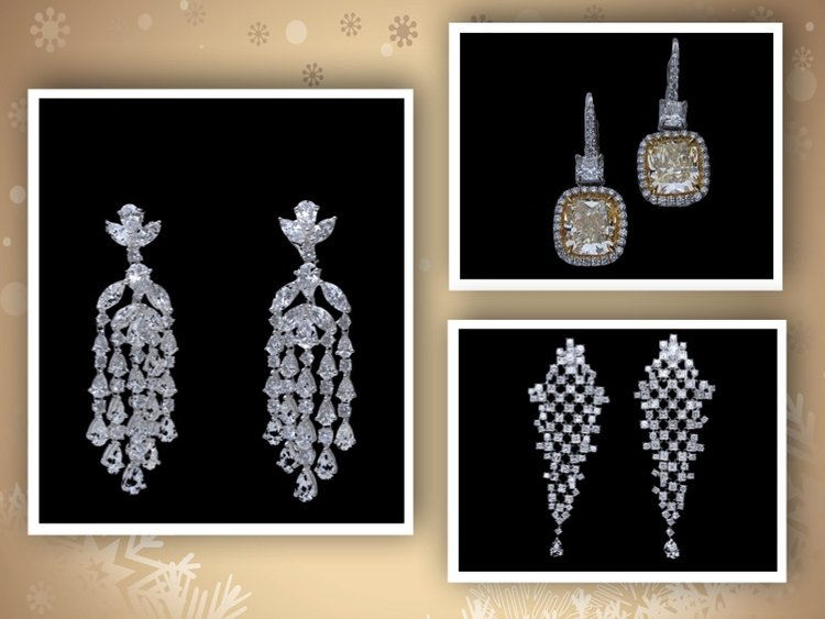 Gorgeous Diamond Earrings:  No Tinsel Needed