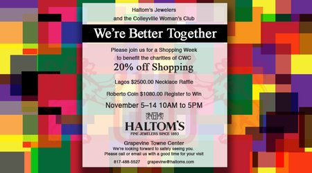 Shopping and Fundraising at Haltom's in Grapevine