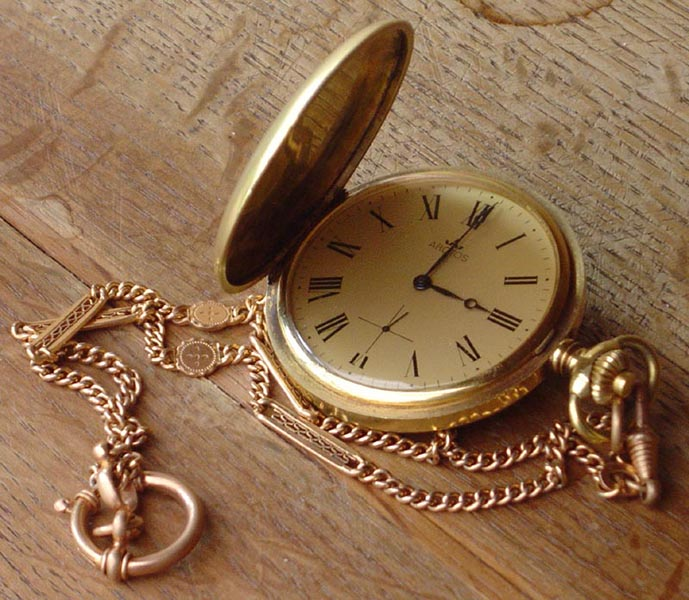 Pocket Watch W Chain
